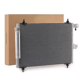 Kondensator, Klimaanlage Netzmaße: 568*361*16, Kältemittel: R 134a mit OEM-Nummer 9645974780