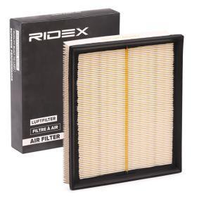 Luftfilter Länge: 206,5mm, Höhe: 57,3mm, Länge über Alles: 246,0mm mit OEM-Nummer LR027408