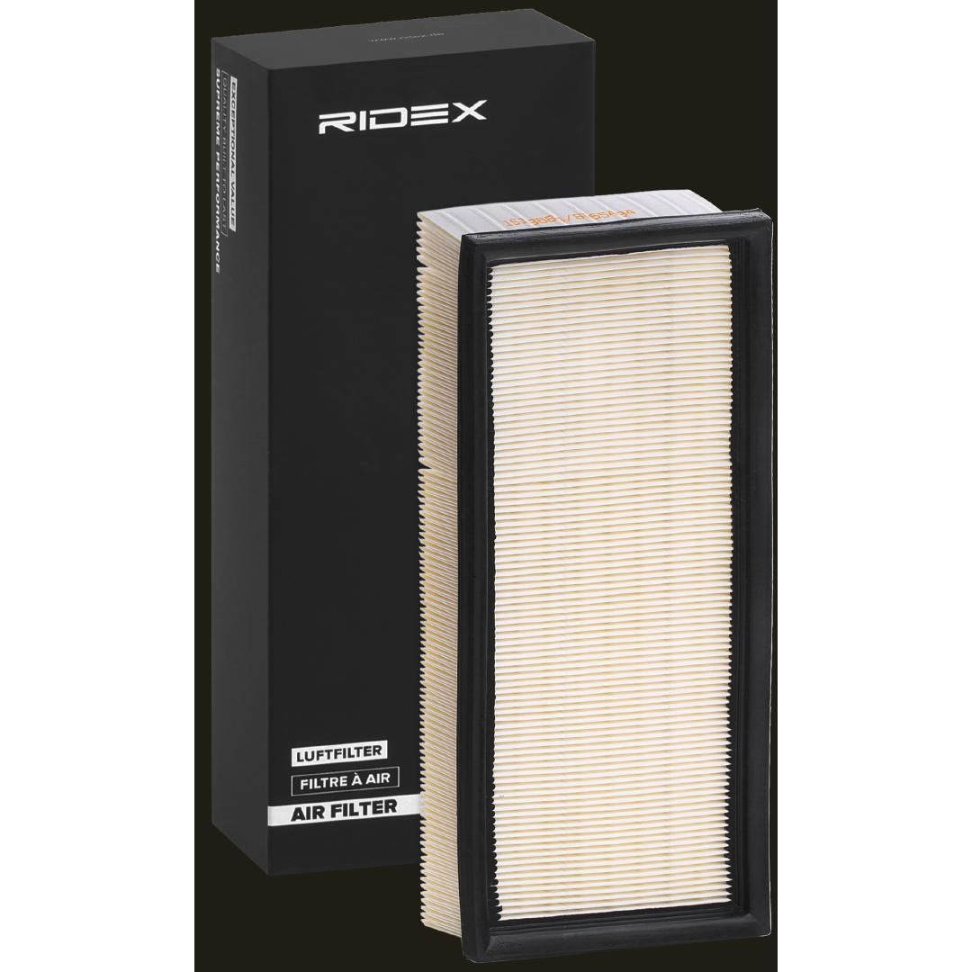 RIDEX  8A0363 Filtro aria Lunghezza: 306mm, Largh.: 150mm, Alt.: 57mm, Lunghezza: 306mm