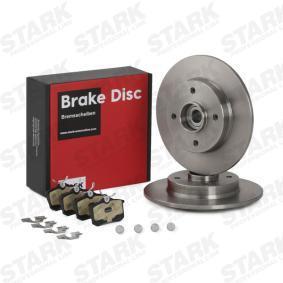 Jogo de travões, travões de disco Espessura do disco de travão: 9mm com códigos OEM 1H0615415