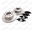 Brake pads and rotors kit STARK 8056779 Front Axle, Vented, incl. wear warning contact