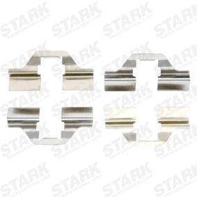 STARK Zubehörsatz, Scheibenbremsbelag SKAK-1120005 für AUDI 100 (44, 44Q, C3) 1.8 ab Baujahr 02.1986, 88 PS