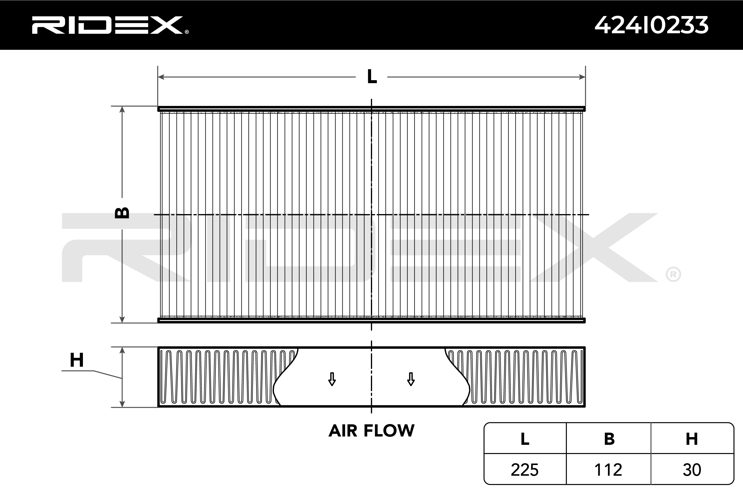 Cabin Air Filter RIDEX 424I0233 expert knowledge