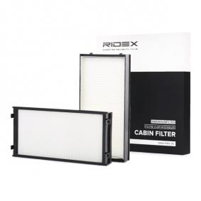 Filter, Innenraumluft Länge: 298mm, Breite: 144mm, Höhe: 34mm mit OEM-Nummer 64316945586