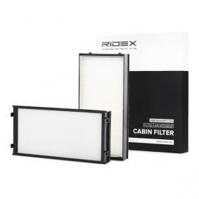 Filter, Innenraumluft Länge: 298mm, Breite: 144mm, Höhe: 34mm mit OEM-Nummer 64316945585