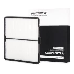 Filter, Innenraumluft Länge: 210mm, Breite: 199mm, Höhe: 10mm mit OEM-Nummer 96425700