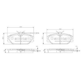 Bremsbelagsatz, Scheibenbremse Breite: 130,0mm, Höhe: 55,4mm, Dicke/Stärke: 18,3mm mit OEM-Nummer 77012-03070