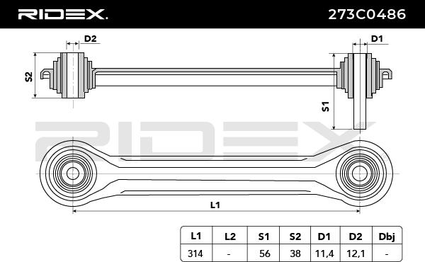 Dreieckslenker RIDEX 273C0486 Bewertung