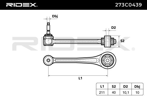 Control Arm RIDEX 273C0439 4059191206148