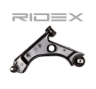 Trailing arm RIDEX 8062220 Front Axle Left, Lower, Sheet Steel, Control Arm, with ball joint, with rubber mounting