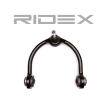 RIDEX Suspension arm JEEP Front Axle, Left and right, Upper, Control Arm