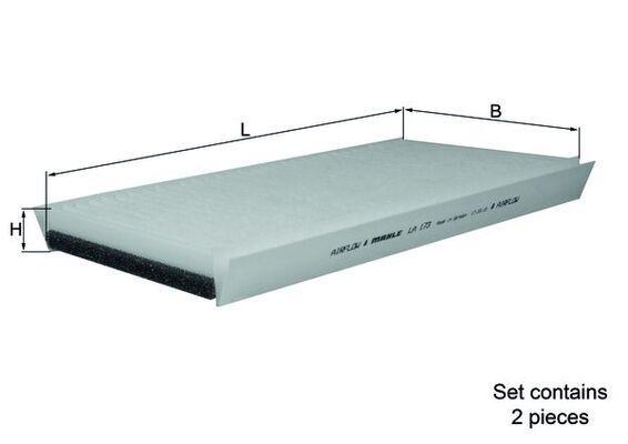 KNECHT  LA 173/S Filter, Innenraumluft Länge: 328mm, Breite: 164mm, Höhe: 30mm