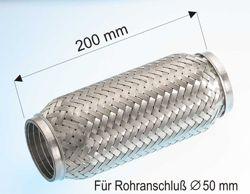 EBERSPÄCHER  996.0.013 Flexrohr, Abgasanlage Länge: 200mm, Innendurchmesser: 50mm