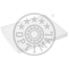 Filter, Innenraumluft Länge: 280mm, Breite: 205mm, Höhe: 25mm mit OEM-Nummer 1H0819638B