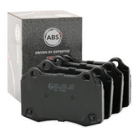 A.B.S.  35052 Bremsbelagsatz, Scheibenbremse Breite 1: 107,3mm, Höhe 1: 69,3mm, Dicke/Stärke 1: 14,0mm