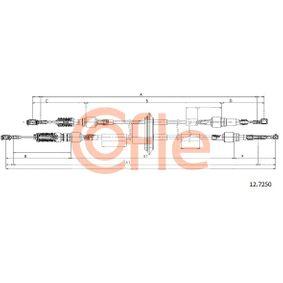 Cable, manual transmission 12.7250 PANDA (169) 1.2 MY 2007