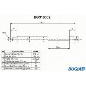 Газов амортисьор, багажно / товарно пространство BGS10352 800 (XS) 2.0 I/SI Г.П. 1993