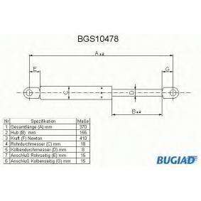 Heckklappendämpfer / Gasfeder mit OEM-Nummer 51248110327