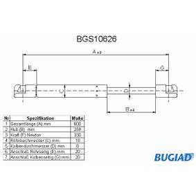 Heckklappendämpfer / Gasfeder mit OEM-Nummer 1C0 827 550 F