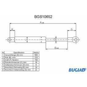 Heckklappendämpfer / Gasfeder mit OEM-Nummer 51248103118