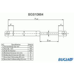 BUGIAD Heckklappendämpfer BGS10664 für AUDI A6 (4B2, C5) 2.4 ab Baujahr 07.1998, 136 PS