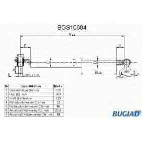 Muelle neumático, maletero / compartimento de carga BGS10684 CIVIC 6 Hatchback (EJ, EK) 1.5i (EK3) ac 1998