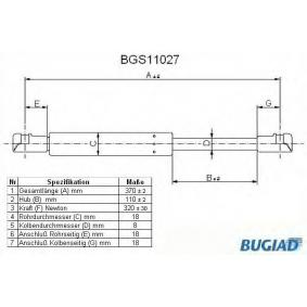 BUGIAD  BGS11027 Heckklappendämpfer / Gasfeder