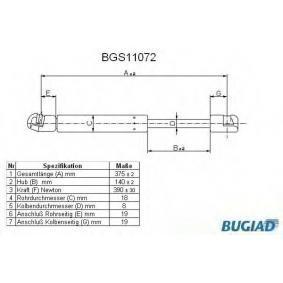 Heckklappendämpfer / Gasfeder mit OEM-Nummer 3C5827550A