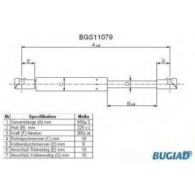 Gas Spring, boot- / cargo area BGS11079 AYGO (WNB1_, KGB1_) 1 MY 2012