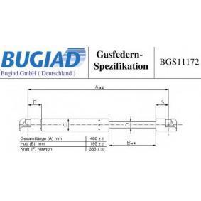 Heckklappendämpfer / Gasfeder mit OEM-Nummer 81770 07000