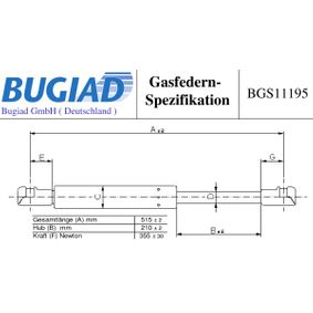 Gas Spring, boot- / cargo area with OEM Number 90450 JD01B
