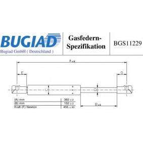 Heckklappendämpfer / Gasfeder BGS11229 TWINGO 2 (CN0) 1.2 Bj 2010
