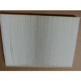 Filter, interior air Length: 273mm, Width: 207mm, Height: 26mm with OEM Number 1H0 819 644