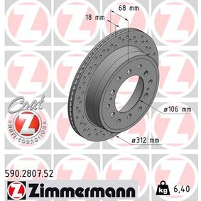 Disque de frein Épaisseur du disque de frein: 18mm, Jante: 5Trou, Ø: 312mm avec OEM numéro 42431 60270