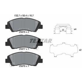 Bremsbelagsatz, Scheibenbremse Breite: 132,7mm, Höhe: 50,4mm, Dicke/Stärke: 16,7mm mit OEM-Nummer 58101-B4A00
