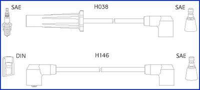 Image of HITACHI Kit cavi accensione 4044079344487
