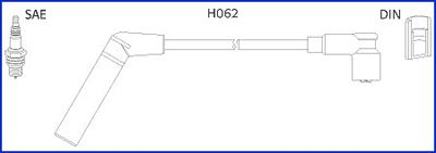 HITACHI  134478 Ignition Cable Kit Length: 300mm, Length: 350mm, Length 3: 400mm, Length 4: 550mm