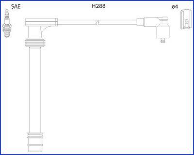Image of HITACHI Kit cavi accensione 4044079345187