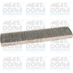 Filter, Innenraumluft Länge: 510mm, Breite: 98mm, Höhe: 30mm mit OEM-Nummer 3 401 703