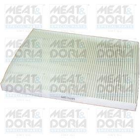 Filter, Innenraumluft Länge: 291mm, Breite: 224mm, Höhe: 21mm mit OEM-Nummer 60814643