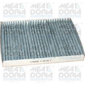 Filter, Innenraumluft Länge: 281mm, Breite: 206mm, Höhe: 30mm mit OEM-Nummer 1J0819644A+