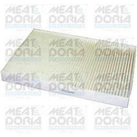 MEAT & DORIA Filter, Innenraumluft 17086 für AUDI A4 (8E2, B6) 1.9 TDI ab Baujahr 11.2000, 130 PS