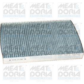 MEAT & DORIA Filter, Innenraumluft 17086K für AUDI A6 (4B2, C5) 2.4 ab Baujahr 07.1998, 136 PS