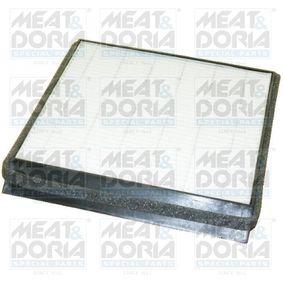 Filter, Innenraumluft Länge: 215mm, Breite: 208mm, Höhe: 19mm mit OEM-Nummer 6447-SR