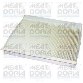 Filter, Innenraumluft Länge: 256mm, Breite: 199mm, Höhe: 30mm mit OEM-Nummer 6447FF