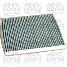 Filter, Innenraumluft Länge: 257mm, Breite: 199mm, Höhe: 31mm mit OEM-Nummer 6447-LN
