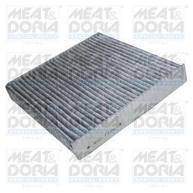 Filter, Innenraumluft Länge: 222mm, Breite: 220mm, Höhe: 34mm mit OEM-Nummer 6479A1