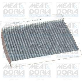 Filter, Innenraumluft Länge: 215mm, Breite: 163mm, Höhe: 25mm mit OEM-Nummer 46770834