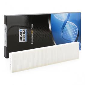 Filter, Innenraumluft Länge: 535mm, Breite: 110mm, Höhe: 26mm mit OEM-Nummer 95VW 19N551 AA