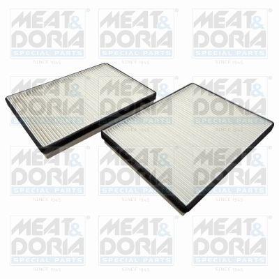 MEAT & DORIA  17153F-X2 Filter, Innenraumluft Länge: 256mm, Breite: 190mm, Höhe: 30mm